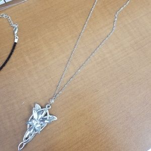 925siver necklace and charm